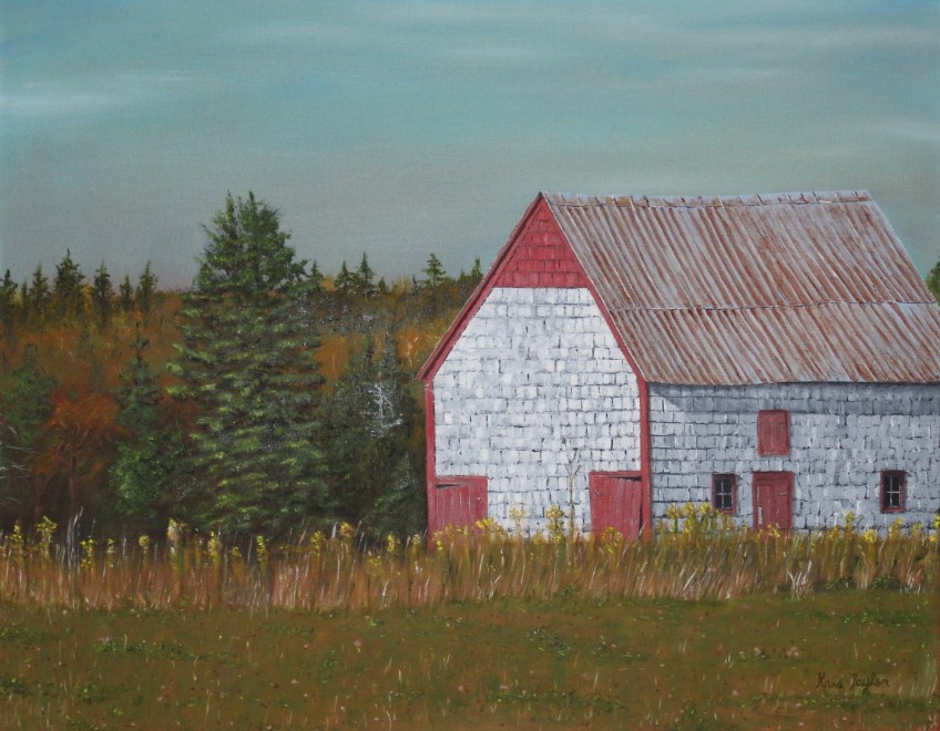 Old Barn in Mayfield, Oil on Canvas, 22 x 28 in.