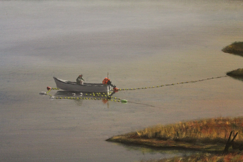 Setting on the Clyde, Oil on Canvas, 24 x 48 in.